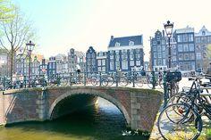 Amsterdam - bikes and bridges everywhere www.aruralchiclifestyle.com Amsterdam Bike, Amsterdam Travel, Bridges, Trips, Viajes, Traveling, Travel