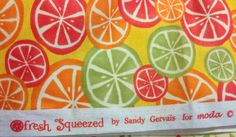 Fresh Squeezed fabric by sandy Gervais for Moda Fabric