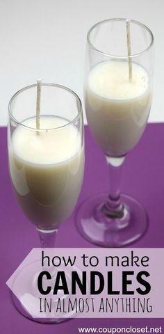 How to Make Candles - DIY Champagne Flute Candles -I'll show you how to easily make candles in almost ANYTHING!
