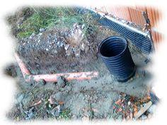 Instalacja pozwalająca na odprowadzenie wody deszczowej z budynku.