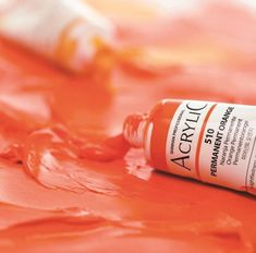 61 brilliant colors High quality ShinHan Professional pigments and acrylic emulsion High degree of lightfastness Fast drying time Acrylic Colors, Paint Colors, Drink Bottles, Orange, Paint Colours, Colored Pencils