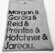 Criminal Minds TV Characters Short Sleeve by HometownSpecialT