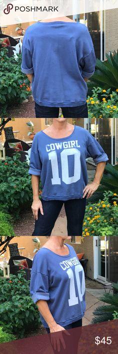 "Wild fox blue sweatshirt 3/4 sleeve loose fit super comfy . Excellent condition  pre-loved. ""10"" Wildfox Tops Sweatshirts & Hoodies"