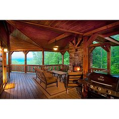 covered porch on a log post and beam home i designed in north