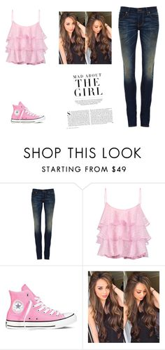 """my name is no"" by holyroller-89 ❤ liked on Polyvore featuring 6397, Pierre Balmain, Converse and Kershaw"