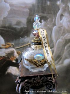 Winged Angel's Protection Potion Bottle ooak dollhouse miniature by blanche