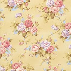 RJR Fabrics – World of Romance by Robyn Pandolph – Rose Vines in Light Gold - 2120-002