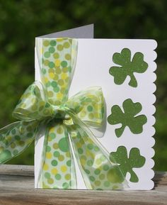 St Patrick's Day Card - too cute!