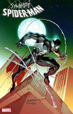 Symbiote Spider-Man Alien Reality Cover B Variant Mark Bagley Cover Marvel Comic Books, Comic Movies, Marvel Art, Marvel Characters, Comic Books Art, Comic Art, Amazing Spiderman, Black Spiderman, Spiderman Art