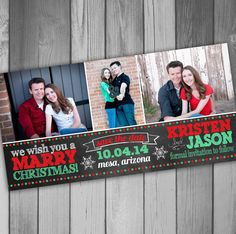Save The Date Christmas Card Photo Christmas Card by CLaceyDesign, $15.00