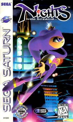 """""""NiGHTS into Dreams"""". One of my all time favorite games.  It's rather esoteric.  In this game, you could gracefully and acrobatically fly around with beautiful sparkly lights trailing behind you!  <3"""