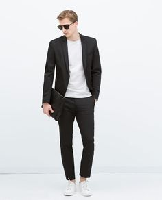 ZARA - MAN - STRUCTURED BLACK SUIT