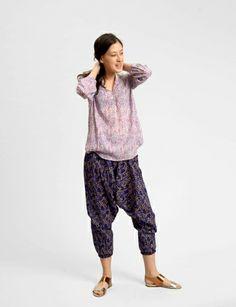 harem floral cotton pants