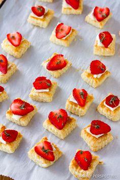 Simple Strawberry Brie Tartlets Recipe   ASpicyPerspective.com