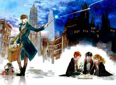 Childlock, Harry Potter, Fantastic Beasts and Where to Find Them, Newt Scamander, Ron Weasley, Harry Potter (Character)