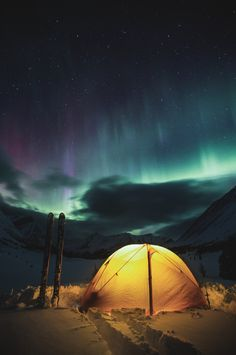 Camping under the northern lights, in my dreams, on my bucket list Camping & Hiking - http://amzn.to/2iquzg5