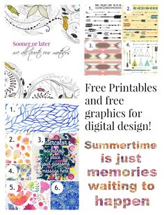 An awesome resource for graphics plus two free printable and a tutorial.