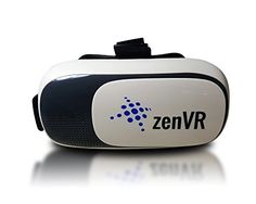 VR Headset Virtual Reality 3D Glasses - fits 4.7-6.0 inch phones - Google Cardboard Goggles for iPhone Samsung Black/White Box * Find out more about the great product at the image link.