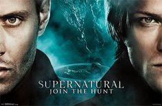 Póster Sam y Dean, rostro. Supernatural Join the Hunt Ahora tienes la oportunidad de colgarte tus personajes favoritos en la pared de tu habitación y estar protegidos por los hermanos Winchester.