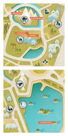 Zoo map on Behance