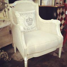Hamptons Rattan Armchair - White - Canalside Interiors