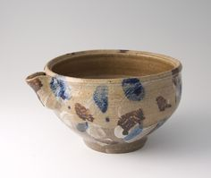 "Shoji Hamada, Pourer, Hakeme brushwork, stoneware, 5 x 9.5 x 7.5"""