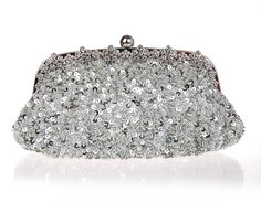 33.29$  Buy here - http://alirjp.shopchina.info/go.php?t=32590731285 - Top Selling Silver Totes Party Evening Bag Women Beaded Sequined Wallet Style Chain Handbag Clutch Banquet Mini Bag 03396-3 33.29$ #buychinaproducts