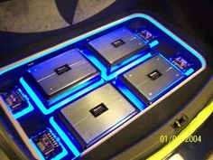 Beaming florescent plexi work and Pioneer sound has this Scion looking stellar, thanks to the pros at Car Tunes Custom Car Audio, Custom Cars, Diy Boombox, Car Audio Installation, Chevy Trailblazer, Jl Audio, Vanz, Car Audio Systems, Car Sounds