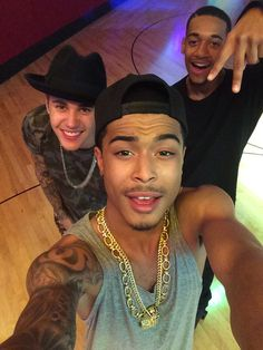 khalil: Skating rink with my brothers