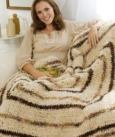 Textured Crochet Throw. Not a fan of the color choices but I love the texture.