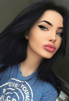 Gorgeous Makeup: Tips and Tricks With Eye Makeup and Eyeshadow – Makeup Design Ideas Pretty Girl Face, Pretty Eyes, Pretty Girls, Best Makeup Tutorials, Best Makeup Products, Beautiful Lips, Gorgeous Makeup, Beauty Make-up, Hair Beauty