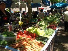 Food market in Split, Croatia