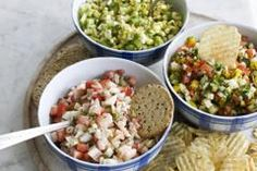 A trio of summer salsas, no tomatoes needed