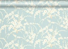 Lori Duck Egg Floral Wallpaper at LAURA ASHLEY - now in my living room!