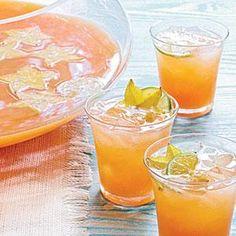 Tropical Champagne Punch Recipe | MyRecipes.com