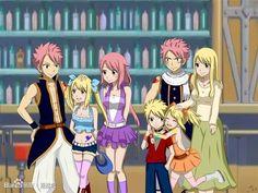 If natsu and Lucy had kids (fairy tail) Fairy Tail Lucy, Fairy Tail Nalu, Fairy Tail Ships, Fairy Tail Family, Fairy Tail Guild, Fairy Tail Couples, Inuyasha, Fairytail, Natsu Und Lucy