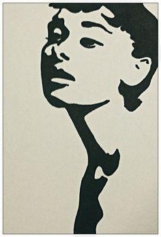 Audrey Hepburn - Pop Art Portrait