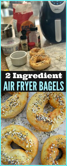 Make These Crazy Simple 2 Ingredient Air Fryer Bagels | Hip2Save