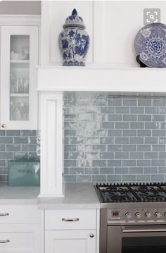 Best 15+ Kitchen Backsplash Tile Ideas | Blue glass tile, Subway ...