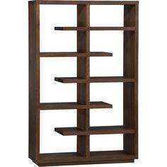 """Crate & Barrel Elevate Walnut 68"""" Bookcase"""