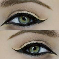 Egypt inspired eye makeup