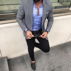 Casual look by Bilal Güçlü.  Follow us @gent_manor for more casual Friday style inspiration.