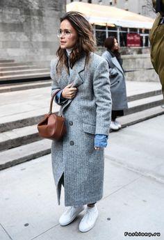 New York Fashion Week осень-зима 2016-2017 - street style