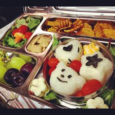 Bento style lunch I made for my 2nd grader.