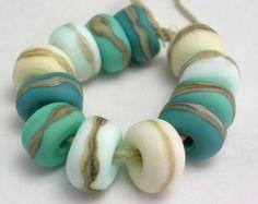 Handmade Lampwork Glass Beads Organic Essentials by mermaidglass