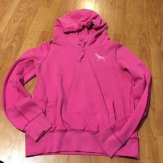 Hoodie/sweatshirt Vs hoodie looks worn but that's how it's suppose to look. It has been worn but still in good shape. PINK Victoria's Secret Jackets & Coats
