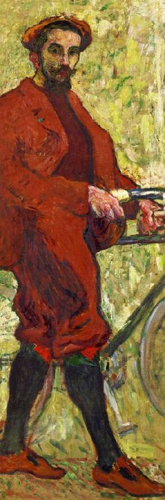 'The Cyclist' (also known as Self Portrait), c.1900, by Louis Valtat  (1869-1952).