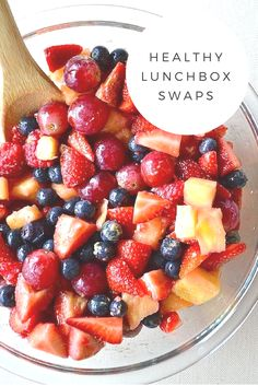 We've put together a list of some healthy lunchbox swaps that are easy to do and in some cases, will even save you money too! #lunch #lunchbox #snacks #recipes #healthy #treats