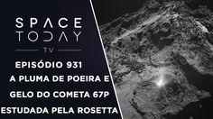 A Pluma de Poeira E Gelo do Cometa 67P Estudada Pela Sonda Rosetta - Spa...