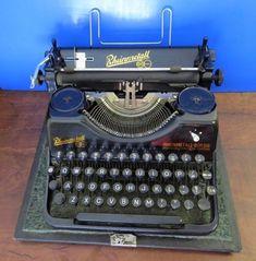 Rare Rheinmetall Borsig TYPEWRITER 1948  Made in Germany old antique vintage   #Rheinmetall